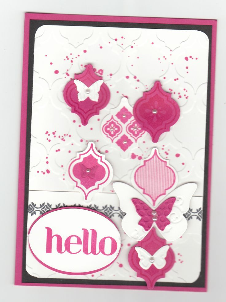 I love this card! The background and the cut-outs are so stunning!