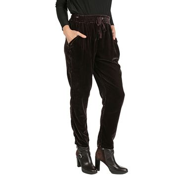 Marla Wynne Washed Velvet Slouch Pant
