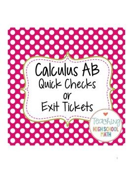 In this packet you will find approximately 75 questions that I use as quick check problems.I find that my calculus students can keep up with the material fairly well and do well on individual tests and quizzes.  However, as soon as that quiz is over, they forget!