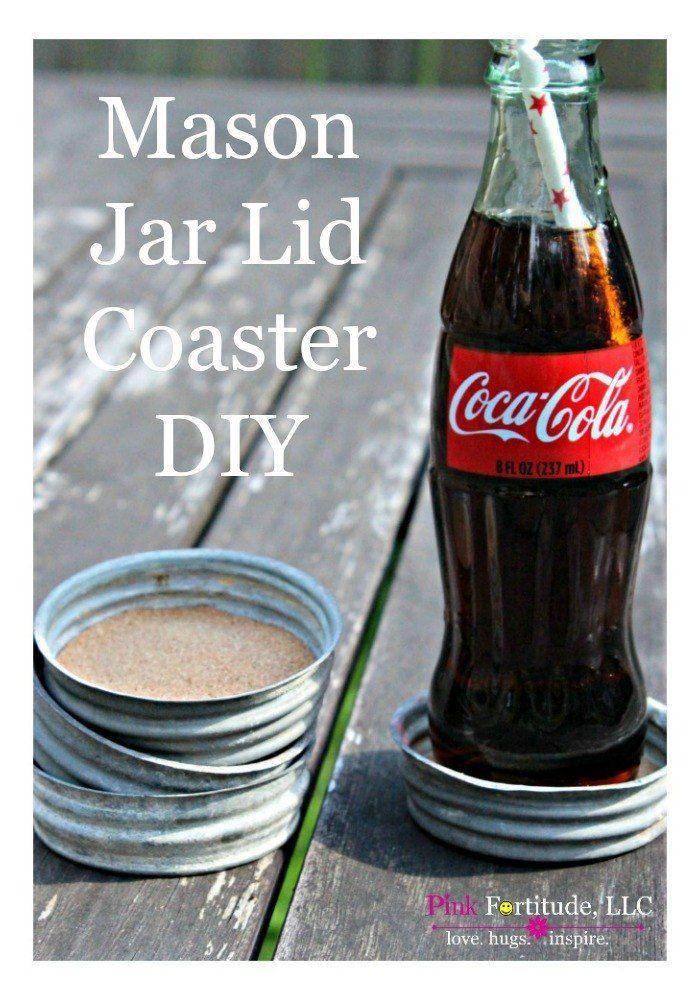 Mason Jar Coaster DIY Trash to Treasure #junkin by coconutheadsurvivalguide.com