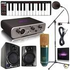 Fast Track Solo Pro Tools Express Home Recording Studio Package Bundle Mic MIDI