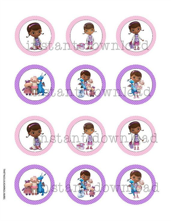 INSTANT PRINTABLE Doc McStuffin Cupcake by TwoLaughingLambs, $2.50