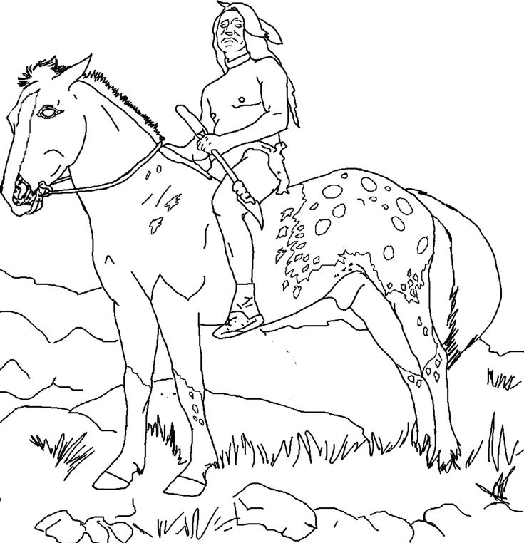 Indian Horse Coloring Sheets