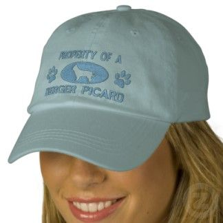 New Property of a Berger Picard Embroidered Hat Blue Click on photo to purchase