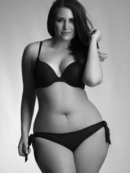 She is absolutely beautiful, her curves are something that I strive to have , she is a real work of art, I wish that models had her figure. Young girls this is REAL beauty not the size zeros you see in magazines.