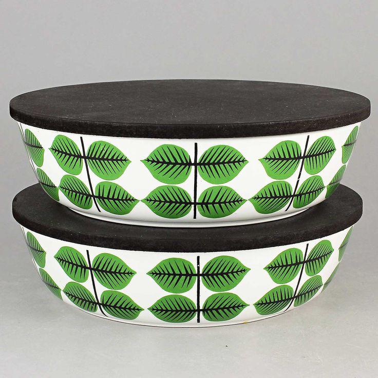 Stig Lindberg (Bersa 1961) Two Iconic Flat Bowls with Lid