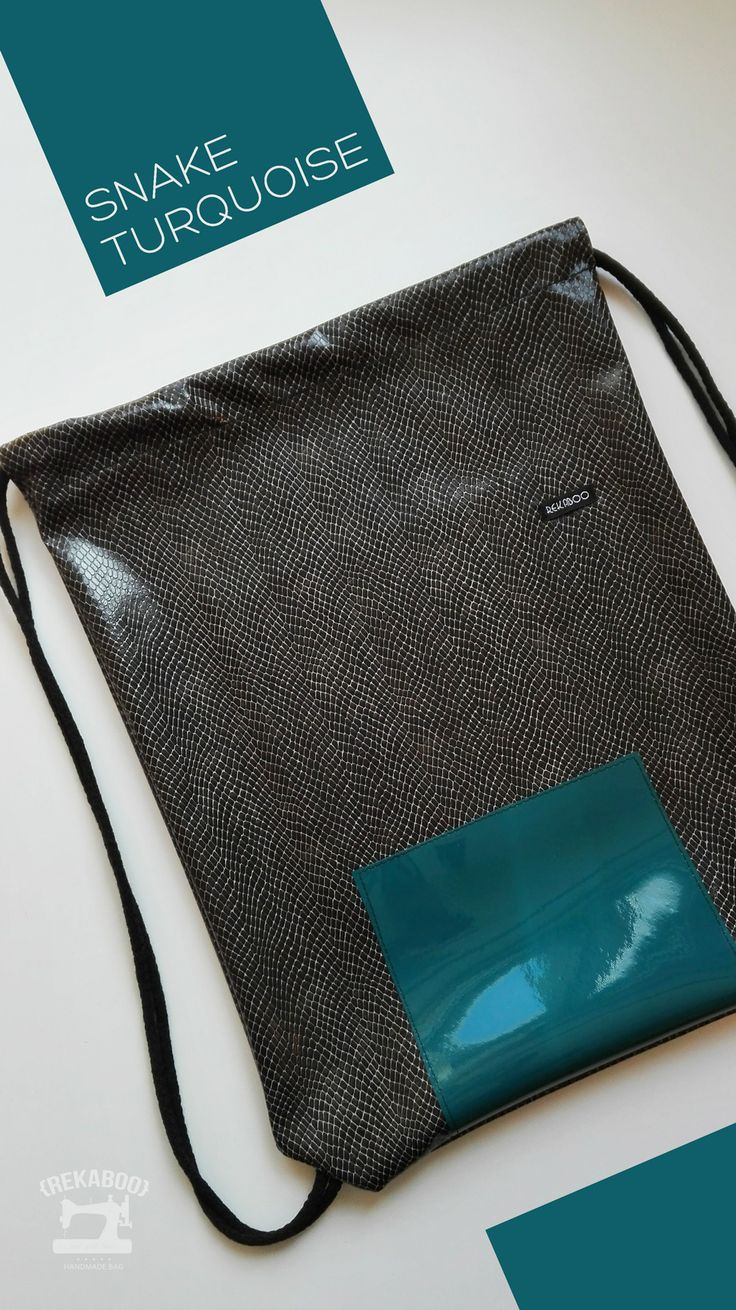 Snake turquoise by Rekaboo bag