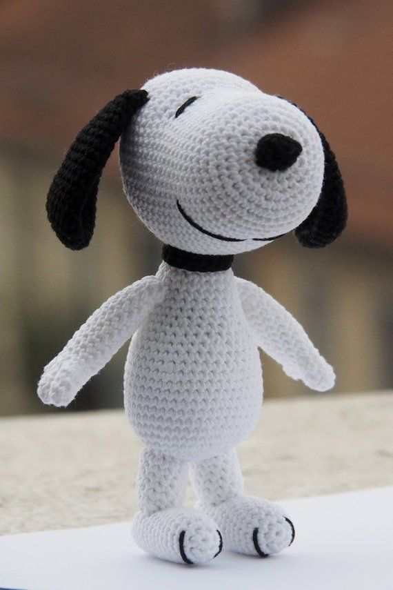 Pdf Crochet Snoopy Amigurumi Pattern Peanuts Tribute Detailed