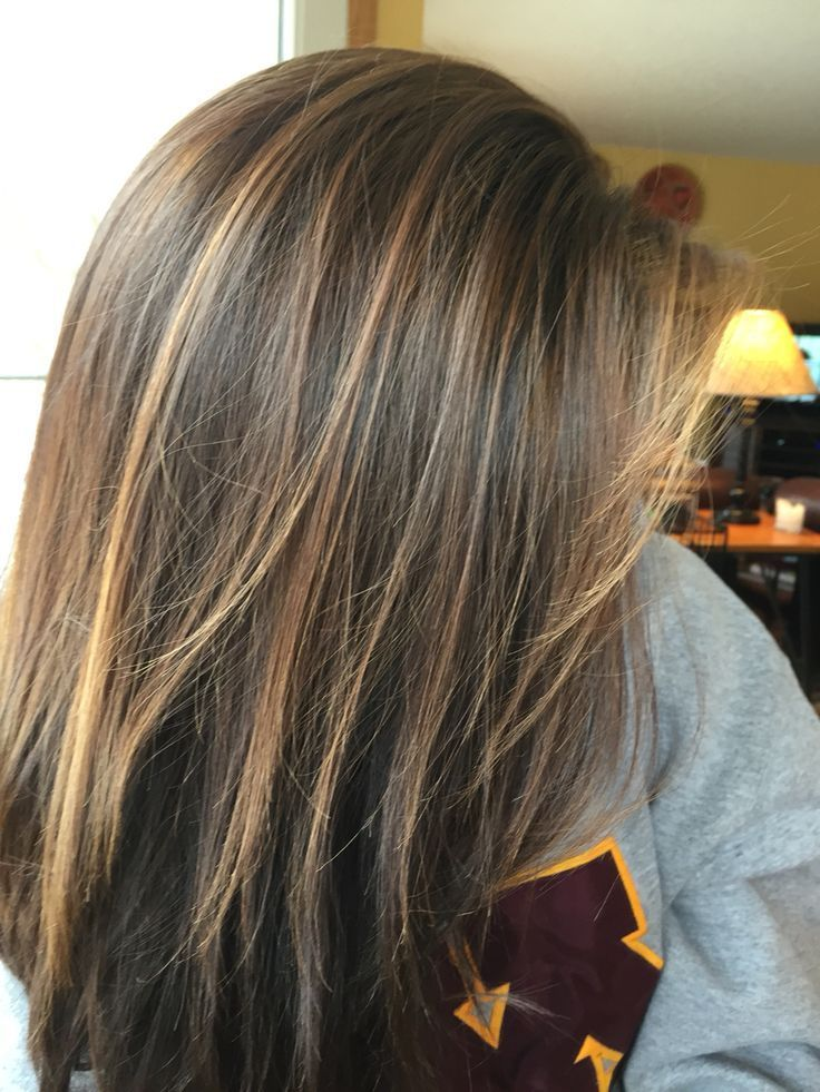 highlights brunette hair