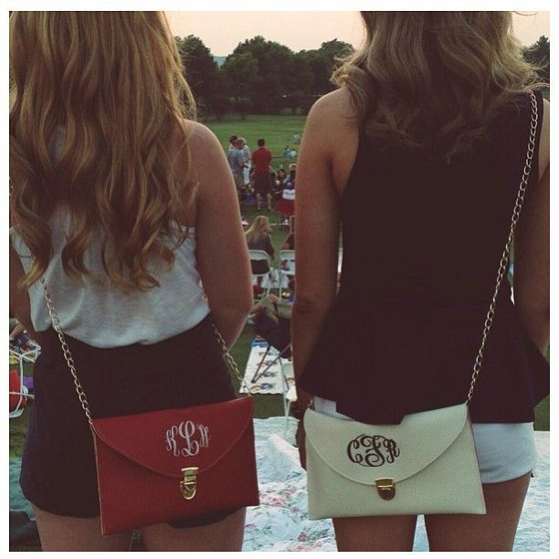 Marley Lillly Luxe Clutches As much as I'm not really into monogrammed anything, these are pretty cute!