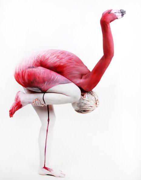 Flamingo Body Paint