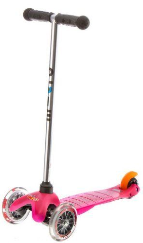 Mini kick Scooter - Pink by Kickboard Scooters USA, by Micro-Mobility, Switzerland. $84.99. Kickboard USA is the official distributor for Micro-Moblity, Switzerland, makers of the Mini Kick scooter (now known as Mini Micro) for kids ages 3-5, the Maxi Kick scooter for kids ages 6-11, and a full line of quality scooters for teens and adults.    The Mini is the quality choice in children's scooters.  In 2011 it was awarded the Parent's Choice Approved Seal and i...