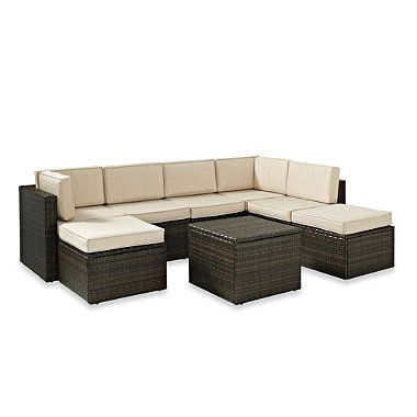 8-Piece Palm Harbor Collection Wicker Set - BedBathandBeyond.com -- 20% off: Piece Seating, 8 Piece Wicker, Outdoor, Wicker Patio, Seating Group, Harbor 8 Piece, Furniture, Palms