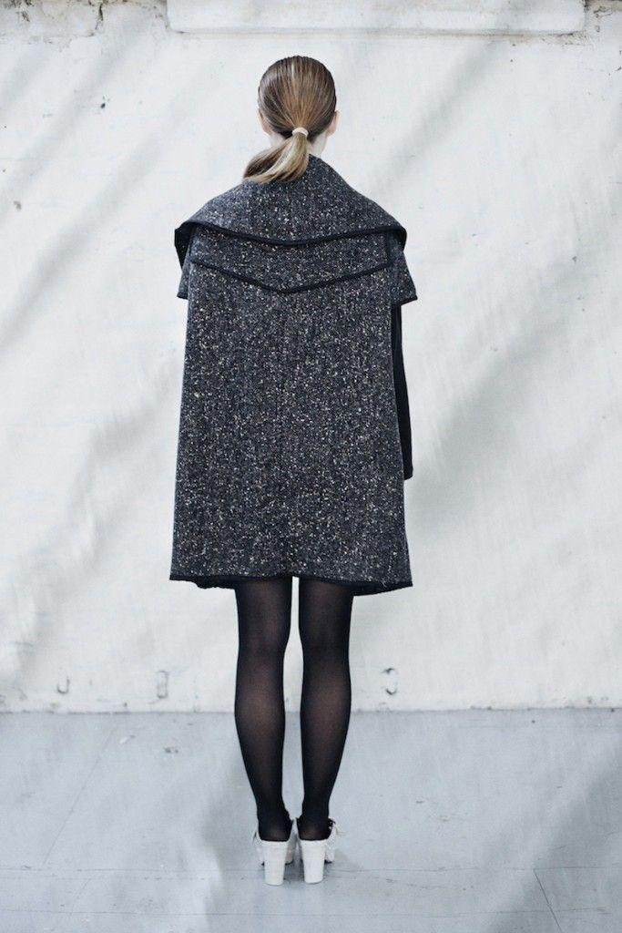 We are Islanders Wool Blend Mix Throw Coat - Back