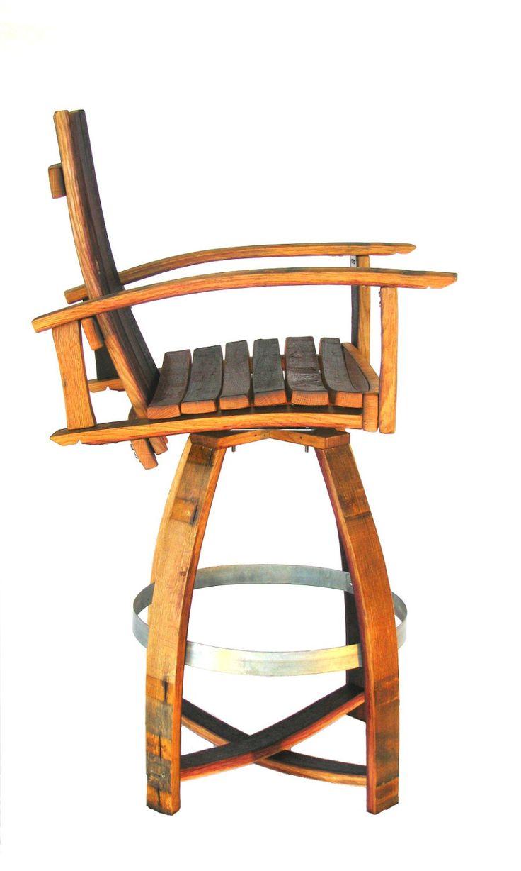 Wine Barrel Bar Chair (red burgundy natural oak stainless steel bar  sc 1 st  Pinterest & Best 25+ Wine barrel bar stools ideas on Pinterest   Barrel table ... islam-shia.org