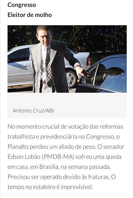 Blog do Gilberto Lima: Lobão fora de combate: senador cai, sofre fraturas...