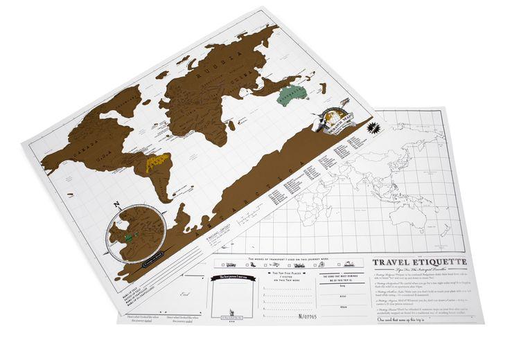Scratch Map travel edition - Scratch Map - Carte du monde à gratter