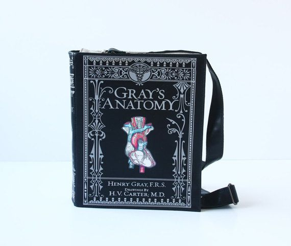 Gray's Anatomy Leather Book Bag Henry Gray Book Purse