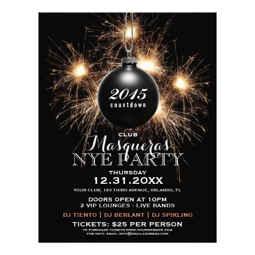 17 best NYE Flyers, Posters And Invitation Templates images on - free new years eve flyer template