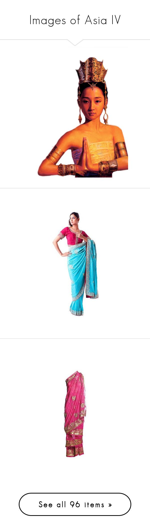 """""""Images of Asia IV"""" by kitty-t ❤ liked on Polyvore featuring india, saree, sari, lehenga, choli, people, bodies, body parts, doll parts and dolls"""