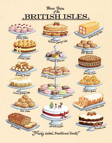 Classic Cakes by Kelly Hall - art print from King & McGaw