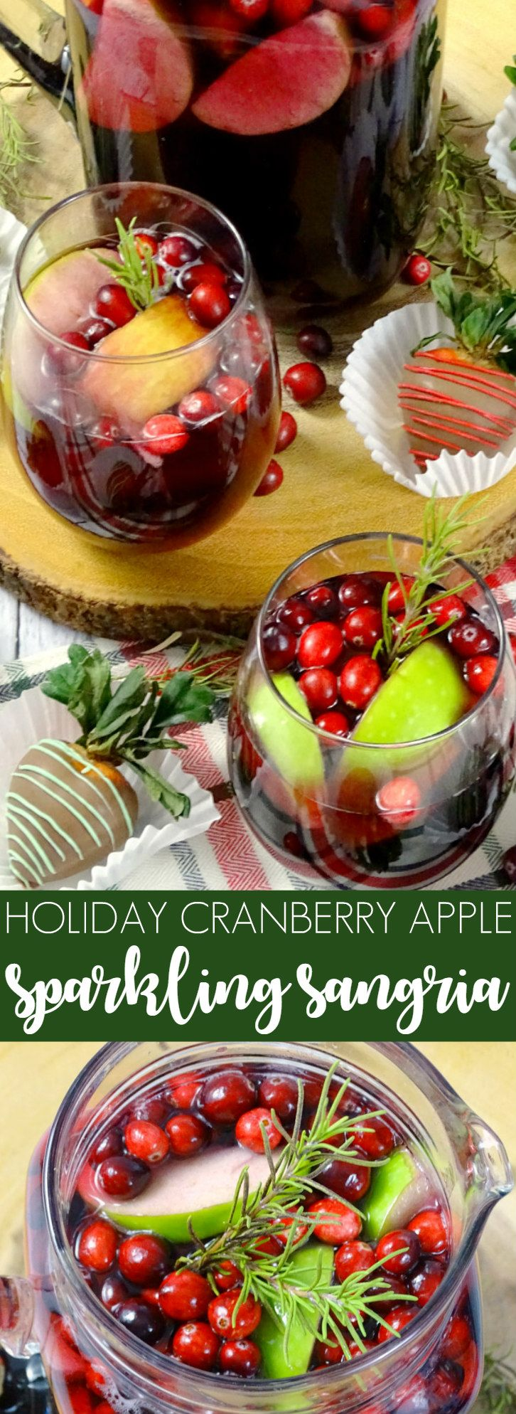 Holiday Cranberry Apple Sparkling Sangria #ad