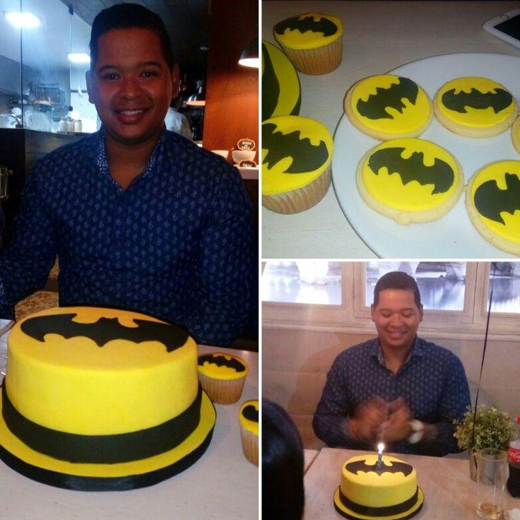 Batman..  torta y galletas