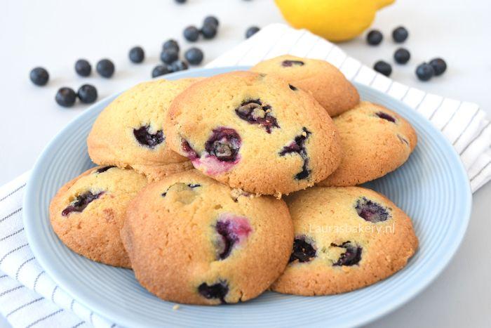 Blauwe bessen-citroen koekjes - Laura's Bakery