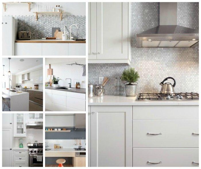 Kitchen Tiles For White Kitchen: Black Splashback Images On
