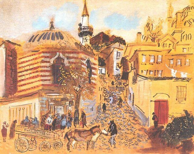 Bedri Rahmi Eyüboğlu, Salı Pazarı, 1938.