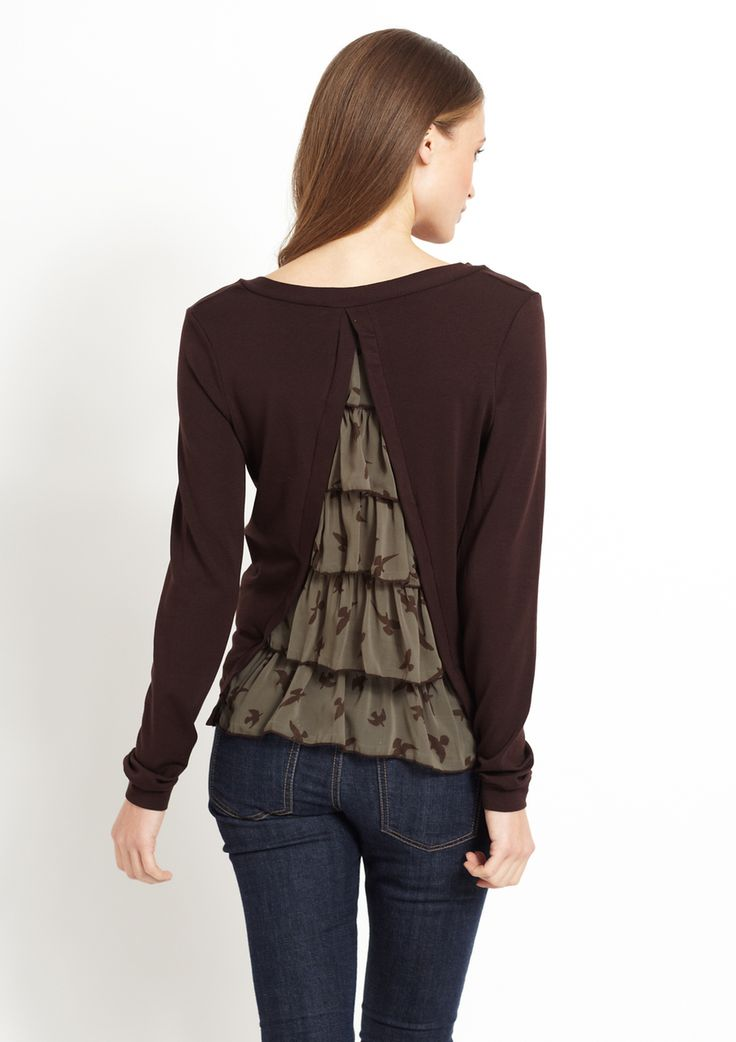 Cute idea for the back of a too tight t-shirt