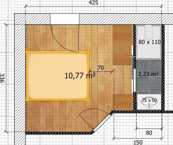 Conseils Pour Amenager Une Chambre De 13m2 En Petite Suite Parentale 42 Mes Chambre Parentale Plan Chambre Parentale Salle De Bain Amenagement Petite Chambre