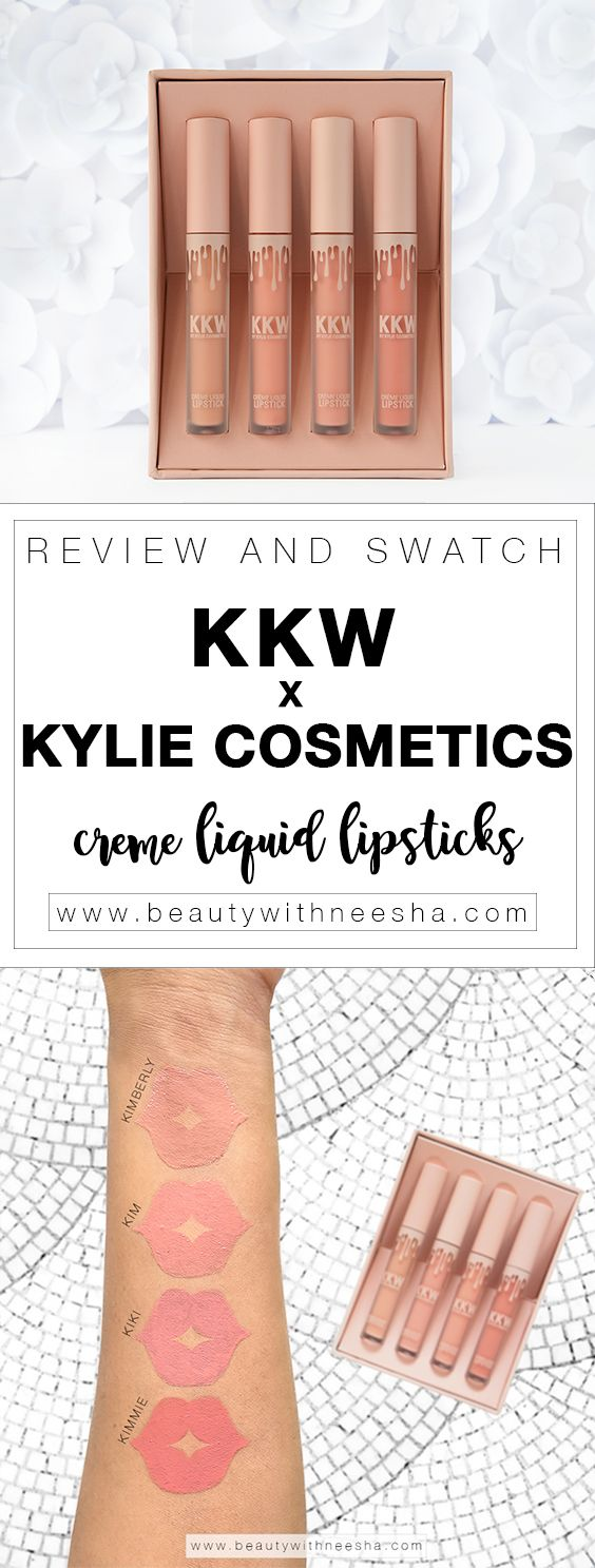 Review and Swatch KKW x Kylie Cosmetics Creme Liquid Lipstick collection. ---------------------------------- Comprehensive review in terms of packaging, value, formula and results. Swatches on the arm and lips. --------------------------------- @beautywithneesha www.beautywithneesha.com