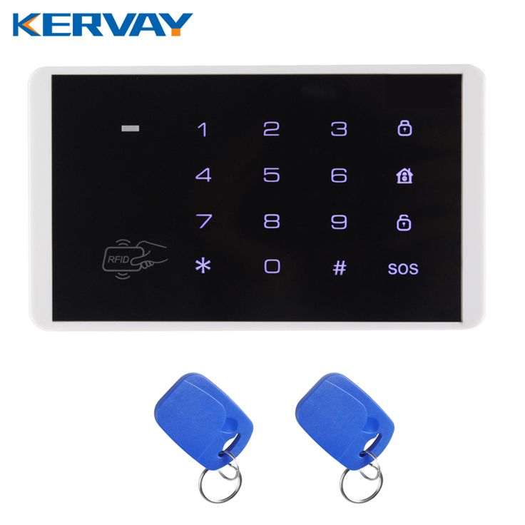 New Wireless RFID Card Touch Keypad for PSTN GSM Alarm Systems Burglar Access Control System Wireless Password Keypad