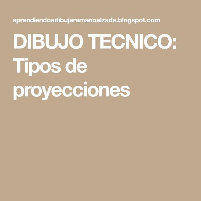 DIBUJO TECNICO: Tipos de proyecciones