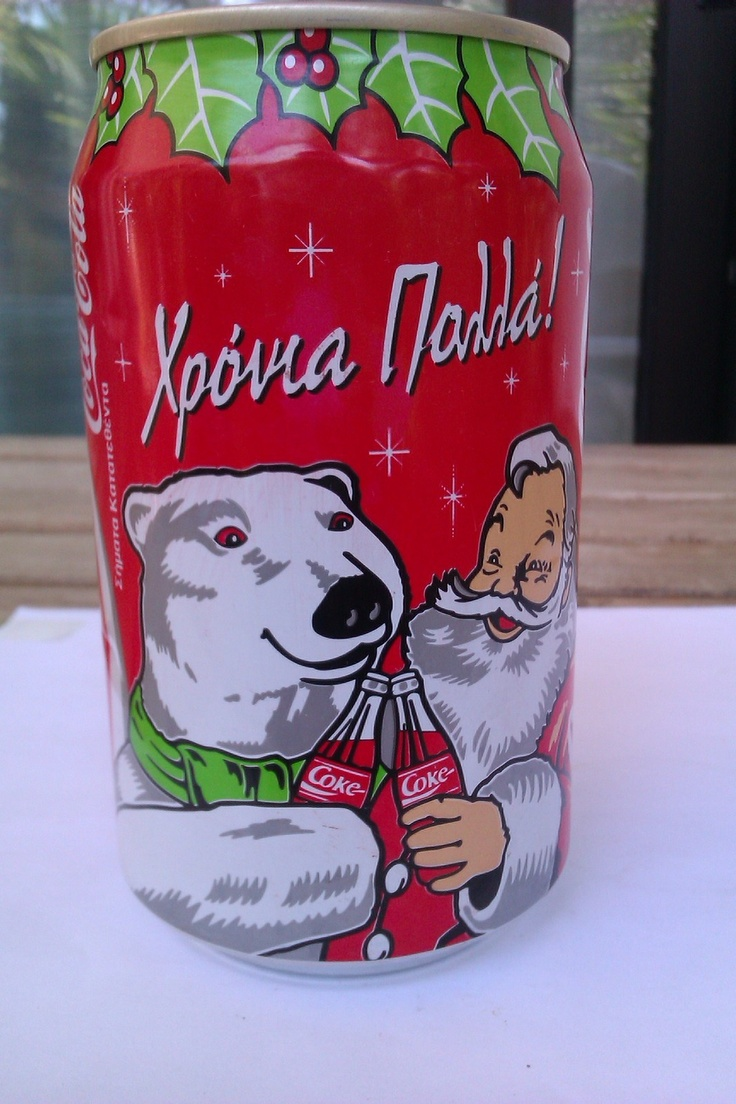 COCA COLA CAN - CHRISTMAS SANTA CLAUS - GREEK EDITION - 1993 - V. RARE -GREECE | eBay