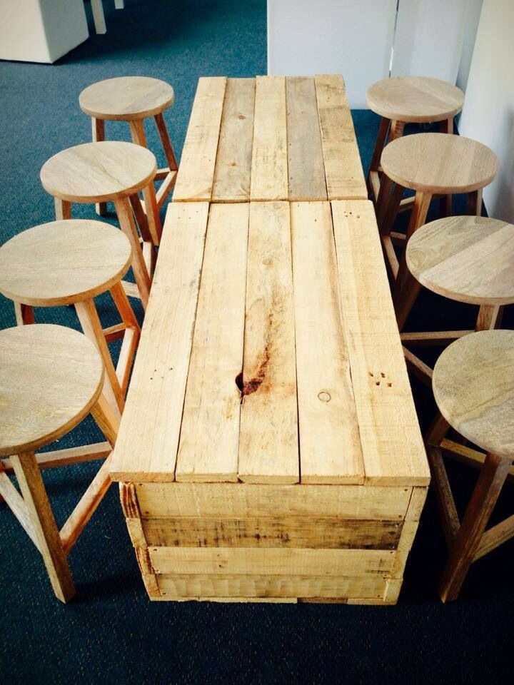 Low wooden crates and stools - wedding styling and hire. albanyeventhire.com.au