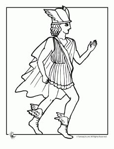 Greek Myths Coloring Page - Mercury