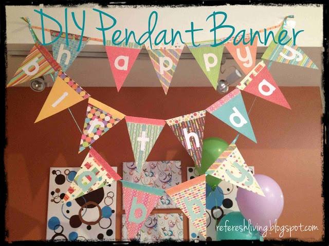 DIY happy birthday banner