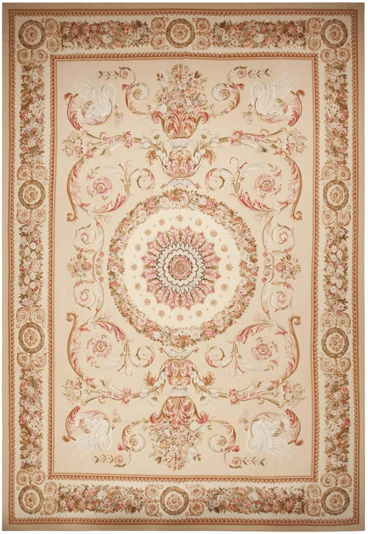 Modern Aubusson Rug 44693 Detail Large View By Nazmiyal