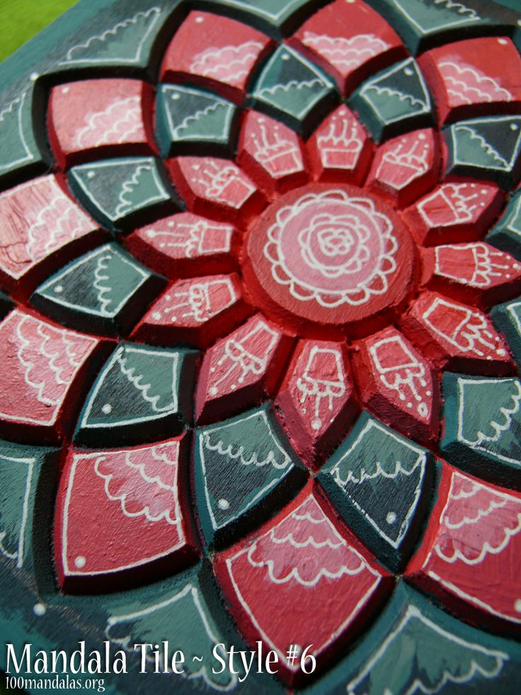 Wood Mandala Tiles ready to paint. Sample painted using acrylic paints and white gel pen. Paint using your favorite color palette and style. Makes great Christmas gifts. $18.50 https://www.etsy.com/shop/TrueNorthArts?section_id=16417751&ref=shopsection_leftnav_4