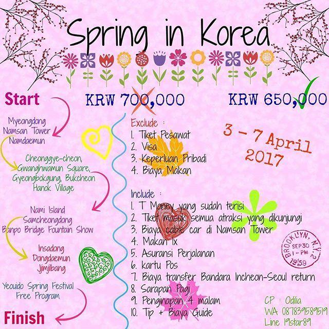 【gadisransel】さんのInstagramをピンしています。 《Yuk liburan bersama Gadis Randel menjelajah Korea Selatan! Langsung PM ke WA 087839589519 atau Line 19star89 ya^^. Segera join trip kami melihat cantiknya bunga sakura bermekaran~ #sakura #spring #trip #gadisransel #backpacking #liburan #liburanmurah #korea #seoul #tripmurah #tour #springtour #april2017 #cherryblossoms #korsel》