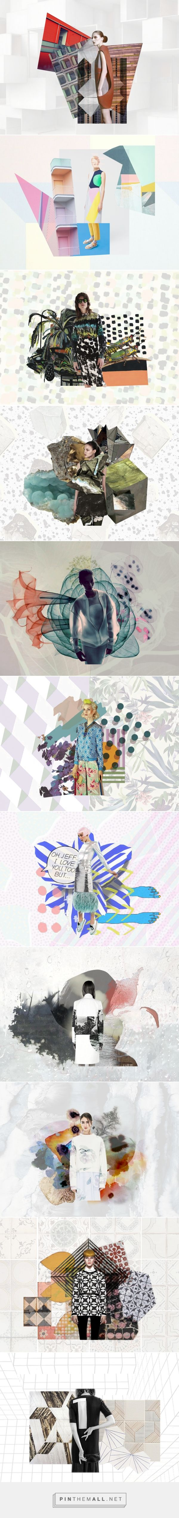 Moodboard collage / Front Row Society on Behance... - a grouped images picture - Pin Them All