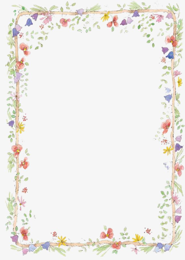 free to pull hand painted small fresh borders  hand