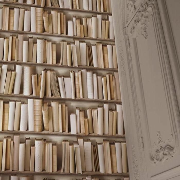 Ivory Library Book Wallpaper From Graham U0026 Green