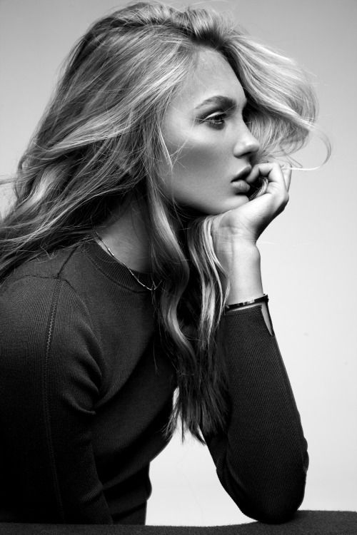 Beautiful dutchie romee strijd model inspiration blonde model black and white