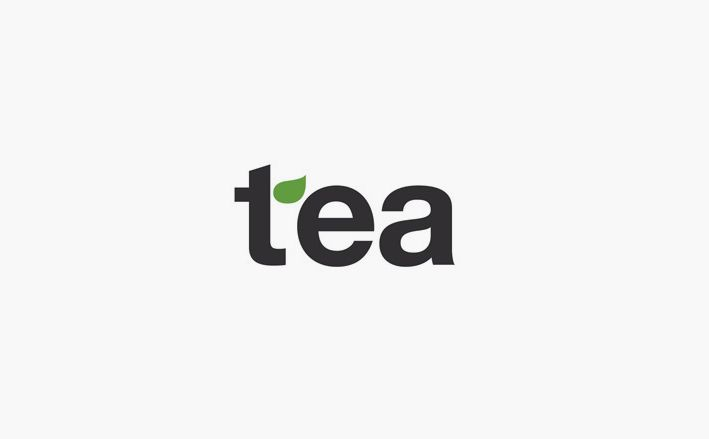 This is very simple tea logo design. Applying green little leaf on the 't' is the point of the design.