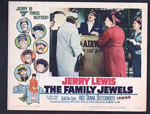 Family Jewels Lobby Card #8-1965-Jerry Lewis and Sebastian Cabot