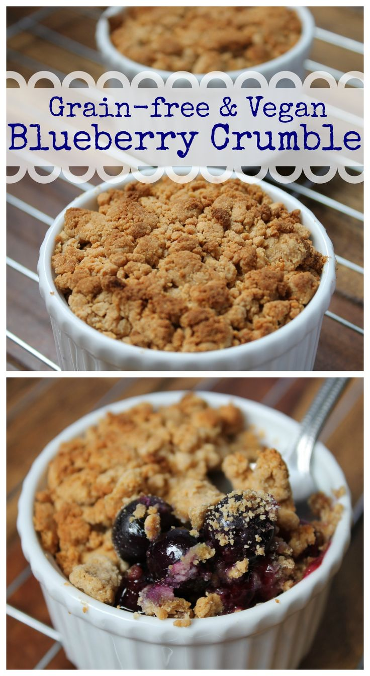 Blueberry Crumble (grain-free & vegan) @ Healy Eats Real #paleo #vegan