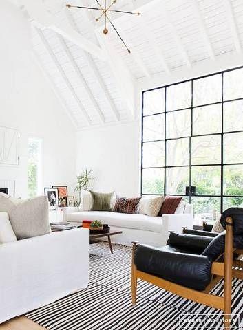 Best Floor To Ceiling Windows White Living Room